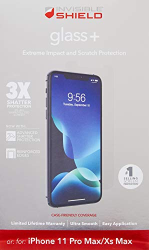 ZAGG InvisibleShield Glass+ Screen Protector  High-definition Tempered Glass Made for Apple Iphone 11  Impact & Scratch Protection - Retail Packaging