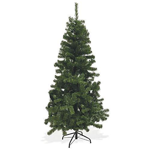 Galileo Casa Xmas Albero Natale con 500 Rami, PVC, Verde, 90 x 90 x 180 cm