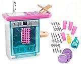 Barbie Mobilier coffret d'intérieur pour poupée avec lave-vaisselle,...