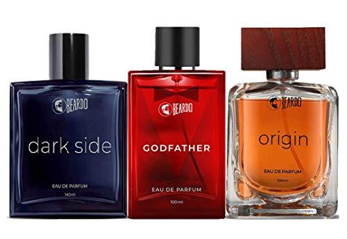Beardo Eau de Parfum Combo (Dark Side Perfume, Origin Perfume, Godfather Perfume) for Men | Made in India