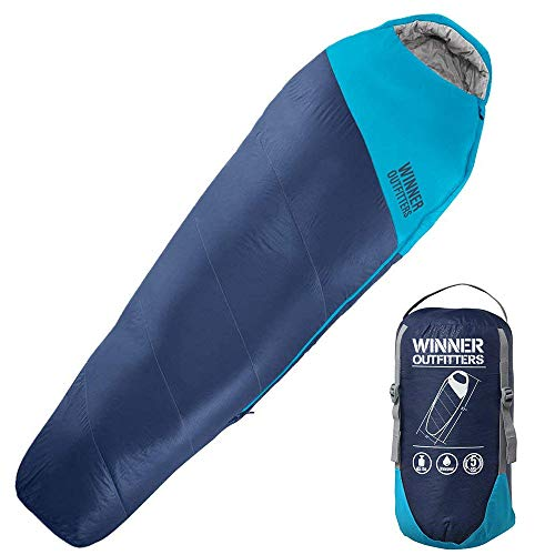 Winner Outfitters Mummy 3-4 Season Sleeping Bag with Compression Sack