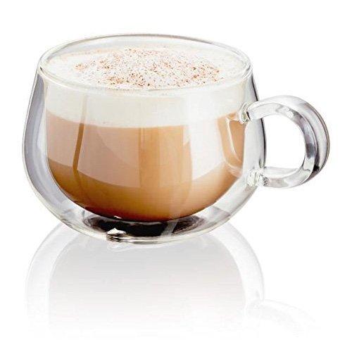 Horwood JDG35 - 2 tazze da cappuccino in vetro, 225 ml