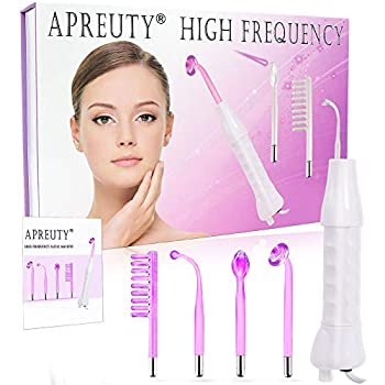 🌺PACKAGE INCLUDE🌺: The professional high frequency machine included an insulated handle, English Manual, 4pcs Argon Gas (Violet) electrodes attachments (Tongue Tube, Bend Tube, Mushroom Tube and Comb Tube). 🌺MULTIPLE FUNCTION🌺: Portable High frequenc...