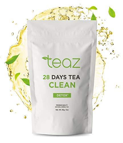 Teaz 28 Days Detox - Clean Tea | 85g Loose Leaf | Slim Tea for Weight Loss | Detox Tea | Diet & Fat Loss Tea | Cleanse Tea | Natural Dietary Supplement | For More Successful Diet (Detox Tea)