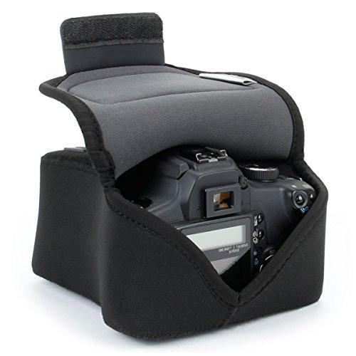 USA GEAR DSLR SLR Camera Sleeve Case (Black) with...