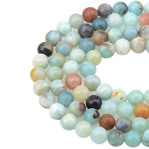 LPBeads 100PCS 8mm Natural Colorful Amazonite Gemstone Round...