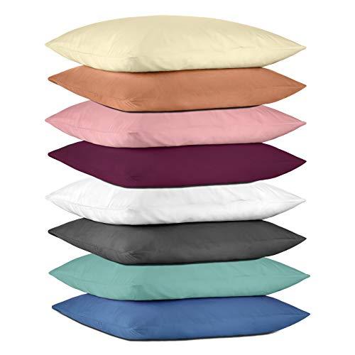 Hometex Premium Textiles Set di 2 federe in Microfibra   federe a Doppio Pacco ca. 95 g/m   federe...