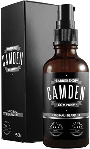 Olio da barba'ORIGINAL' di Camden Barbershop Company ● cura per la barba naturale ● rinfrescante e ammorbidente ● 50 ml