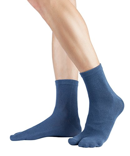 Knitido Traditionals Tabi Ankle   Calzini giapponesi corti e colorati con alluce separato, Misura:35-38, Colori:Dull Blu (802)