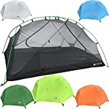 2 Person Backpacking Tent with Footprint - Lightweight Zion Two Man 3 Season Ultralight, Waterproof, Ultra Compact 2p Freestanding Backpack Tents for Camping and Hiking by Hyke & Byke (Lime Green)