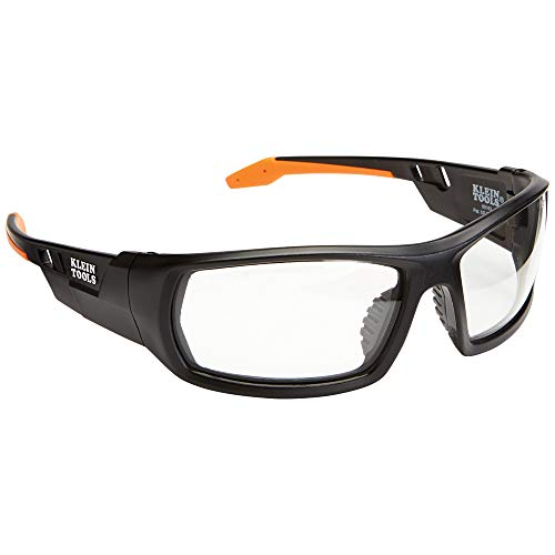 Klein Tools 60163 Safety Glasses, Professional PPE Protective Eyewear with Full Frame, Scratch Resistant and Anti-Fog, Clear Lens