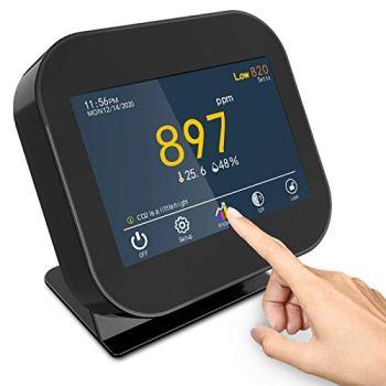 Détecteur de CO2, détecteur de dioxyde de Carbone pour la température et l'humidité Relative, Moniteur de qualité de l'air, capteur de Conduit NDIR, enregistreur de données, Plage 0 ~ 9999 ppm