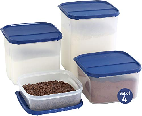 LARGE Dry Food Storage Containers for Flour Sugar Chips, Baking Ingredients - Set of 4 SignoraWare Kitchen/Pantry...