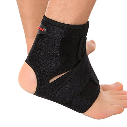Liomor Ankle Support Breathable Ankle Brace for Basketball Running Ankle Sprain Men Women - L/XL, Black.