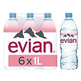 evian Eau Minérale Naturelle Pack de 6 Bouteilles x 1 L