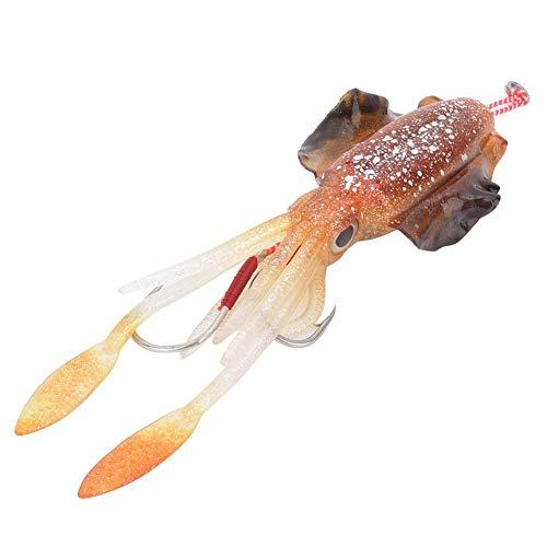 Jarchii Esca da Pesca di Calamari Occhi 3D, Esca da Pesca Polpo da 15,3 cm / 60 g, Esca da calamaro Polpo, Esca da Pesca Finta, Mare/Acqua Dolce per la Pesca(2#)