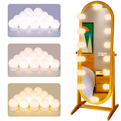 Luci di Specchio per Trucco POVO LED Lampada da Specchio Cosmetico di Stile Hollywood Lampadine...