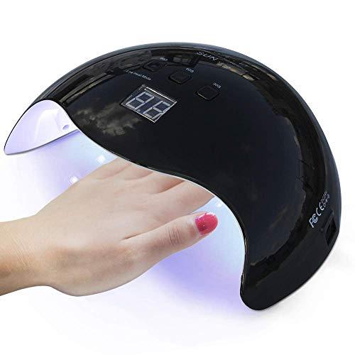 UV Nail Lamp,LKE Curing Lamp 40W for Led Gel Nail Polish Nail Light Nail Art Equipment for Nail Salon Nail Starter Kit Pink (Black)
