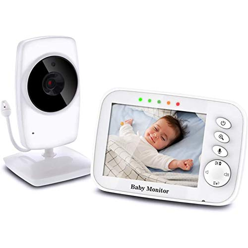 Baby Monitor Camera 3.2'LCD Audio Digitale per Bambini Supporta Fino a 4 Telecamere Videocamera Baby phone Audio Bidirezionale Visione Notturna Monitoraggio della Temperatura