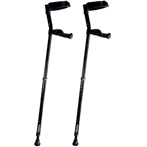 in-Motion Forearm Crutches with Spring Assist | Size Short (3'6' - 4'10') | Red