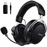 Mpow Air I Wireless Gaming Headset - PS4 Headset with Double Chamber Drivers, Detachable Noise...