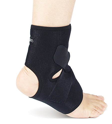 Ankle Brace & Achilles Tendon Support Sleeve | Adjustable One Size Fits All Ankle Support Wrap for Plantar & Achilles Support | Breathable Neoprene Tendinitis Ankle Brace by Astorn
