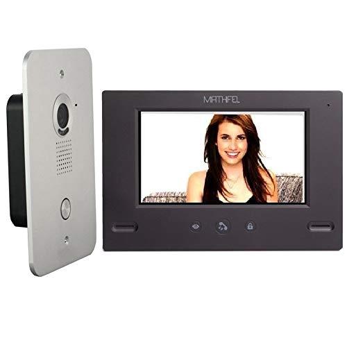 4 Draht Video Türsprechanlage Gegensprechanlage 7\'\' Monitor Klingel Farb mit oder ohne WLAN Schnittstelle, 1x7\'\' Monitor