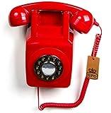 GPO 746 - Téléphone Fixe Rétro à Bouton- Poussoir Mural - Cordon...