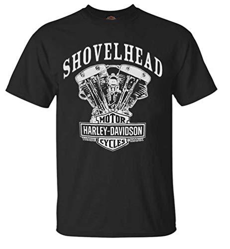 ハーレーダビッドソン メンズ Tシャツ シャベルヘッドエンジン 半袖 ブラック 30294026 US サイズ: 5X-Large カラー: ブラック