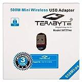 Terabyte 500Mbps Mini Wireless Wi-Fi Dongle/Adapter (Black)