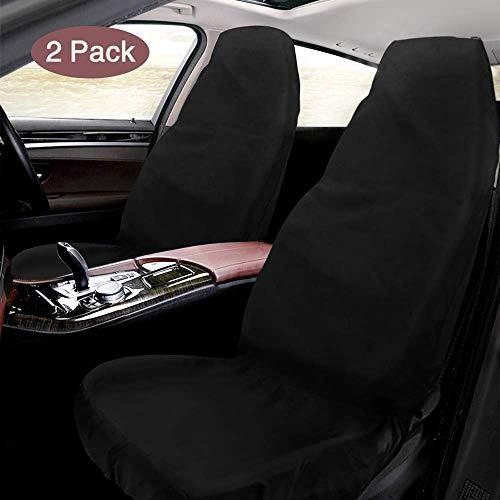 Schonbezug Autositz, Mixigoo 2 Stück Sitzbezug Wasserdicht Autositzbezüge aus Oxford-Gewebe, Universal Werkstattschoner für Vordersitze Fahrersitz, 130 x 55cm