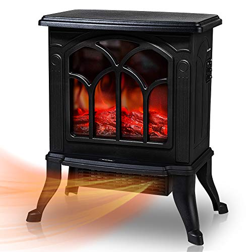 Electric Fireplace Stoves with 3D Realistic Flame Effect, 1500W Indoor...
