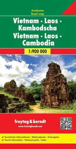vietnam, Laos y Camboya mapa de carreteras. Escala 1:900.000. Freytag & Berndt.: Wegenkaart 1:900 00