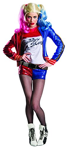 Charades Women's Suicide Squad Harley Quinn Costume, As Shown, Medium