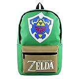 xunlei La Leyenda de Zelda Popular Juego De Anime Legend of Zelda Mochila con Forma De Escudo Verde Mochila para Estudiantes Mochila Exquisita De Moda
