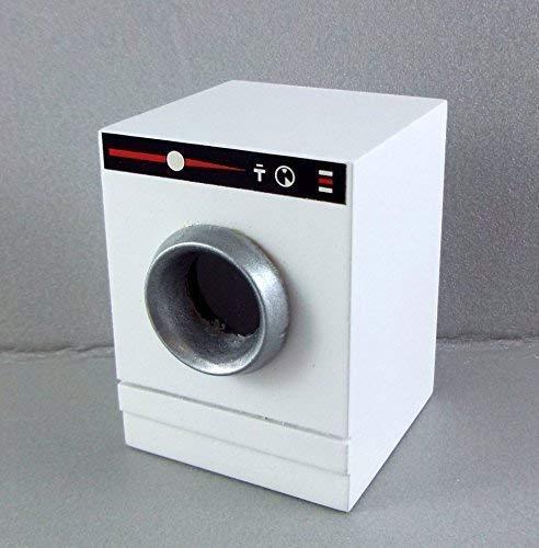 Casa delle Bambole Lavatrice Lavasciuga Miniatura Legno Bianco Mobili Cucina
