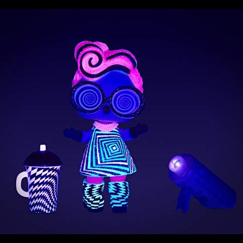 Image 16 - L.O.L. Surprise- Light Glitter Boule 8 Dont 1 poupée pailletée 8cm, phosphorescente, Lampe lumière Noir, Modèles aléatoires à Collectionner, Piles incluses, Jouet pour Enfants dès 3 Ans, LLUB4