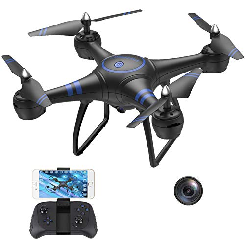 AKASO A31 Drone con videocamera, Quadricottero Telecomando Live Video FPV, WiFi RC Drone con videocamera HD 1080P, Sostituzione della Luce a LED Luminosa, Facile da Usare per Principianti e Adulti