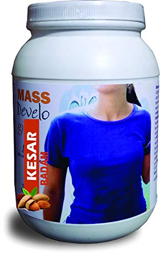 Develo weight & mass gainer protein for women & girls health gain, powder – 1kg (Kesar Badam)