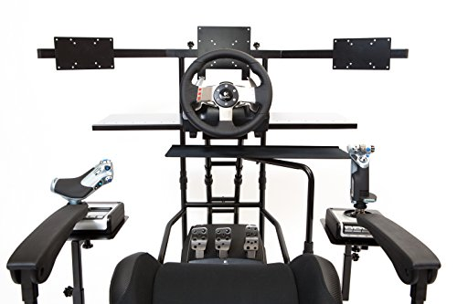 Volair Sim Universal Flight or Racing Simulation Cockpit Chassis with Triple Monitor Mounts 8