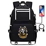 Harry P Gryffindor Insignia Adolescente Mochila al Aire Libre Unisex Daypack Casual School Travel Laptop Tablet Bags with USB 17 Pulgadas Tipo 20