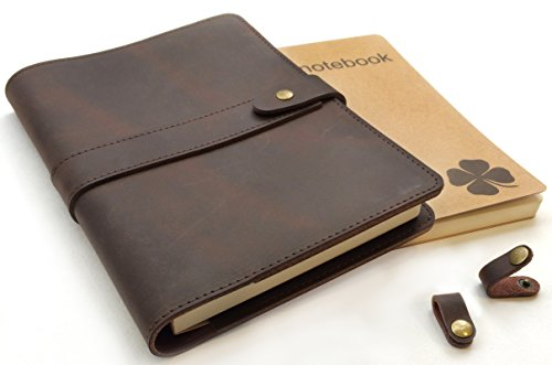 Le Vent Refillable Leather Journal, with...