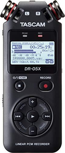 TASCAM DR-05X - Registratore audio stereo portatile professionale con interfaccia audio USB,...