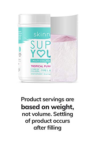 SkinnyFit Super Youth Multi-Collagen Peptide Powder Tropical Punch Flavor, Hair, Skin, Nail, Joint Support, 58 Servings 5