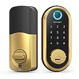Smart Lock SMONET Bluetooth Keyless Entry Keypad Smart Deadbolt-Fingerprint Electronic Deadbolt Door Lock-App Control, Remote Ekeys Sharing, Free App Monitoring Easy to Install for Homes and Hotel
