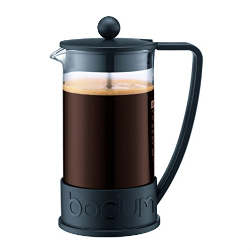 Bodum Brazil Cafetera Prensa Francesa 1 litro (8 tazas, 34 onzas), Negro