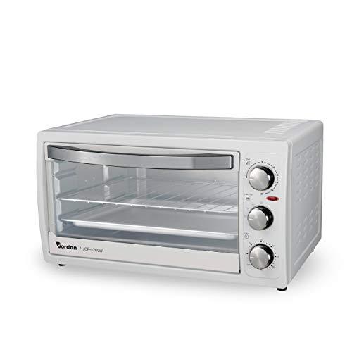 Forno elettrico 1300W, Capienza 20L, Colore Bianco, Temperatura Regolabile 230, Inclusi Vassoio e Griglia con Impugnatura Removibile