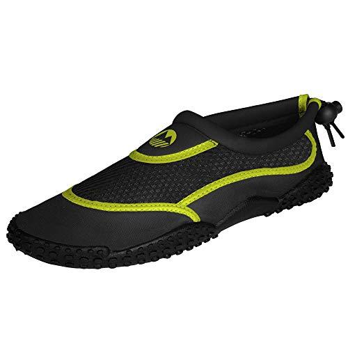 Lakeland Active Eden Aquasport Protective Water Shoes - Black/Hot Lime - 9 UK