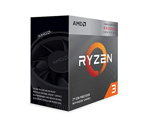 AMD 3200G Ryzen 3, Procesador con Disipador de calor Wraith Stealth (4 MB, 4 Núcleos, Velocidad de 4 GHz, 65W)