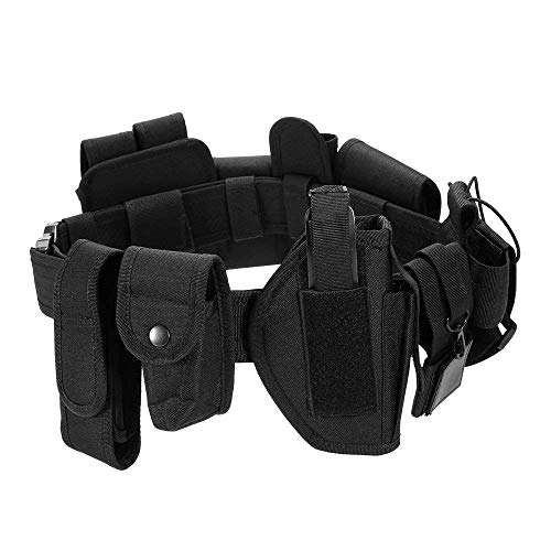 Lixada Cinturón Táctico de Ajustable Nylon Militar Utilidad Correa Kit Guardia de la Policía de Seguridad Formación